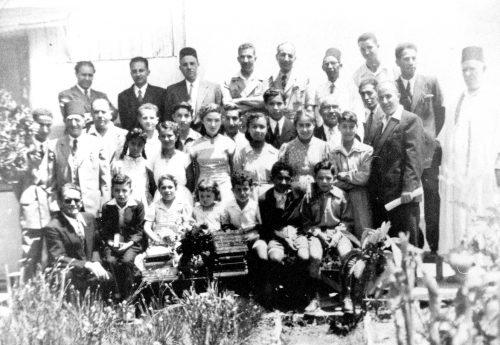 Amicales des Algériens de Rabat-Salé, vers 1950, archives familiales.