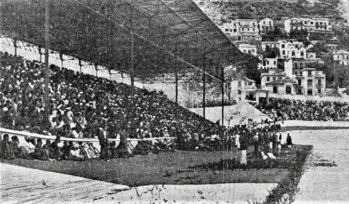 Le public du rassemblement au Stade municipal le 2 août 1936  (L'Écho d'Alger, 3 août 1936).