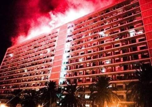Belouizdad, « craquage » par fumigènes de la cité des « Quatorze-Étages », 20 juin 2017